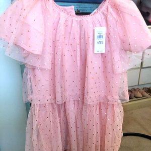 Toddler glitter tiered dress / chiffon